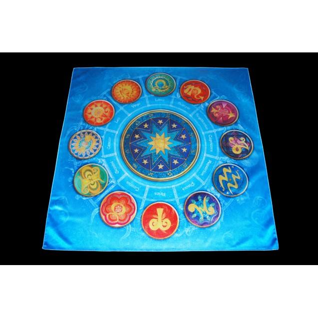 12 Csillagjegy 70x70 cm-es szatén terítő
