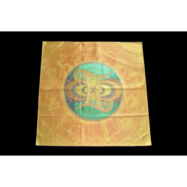 Ikrek - Sárga 70x70 cm-es szatén terítő