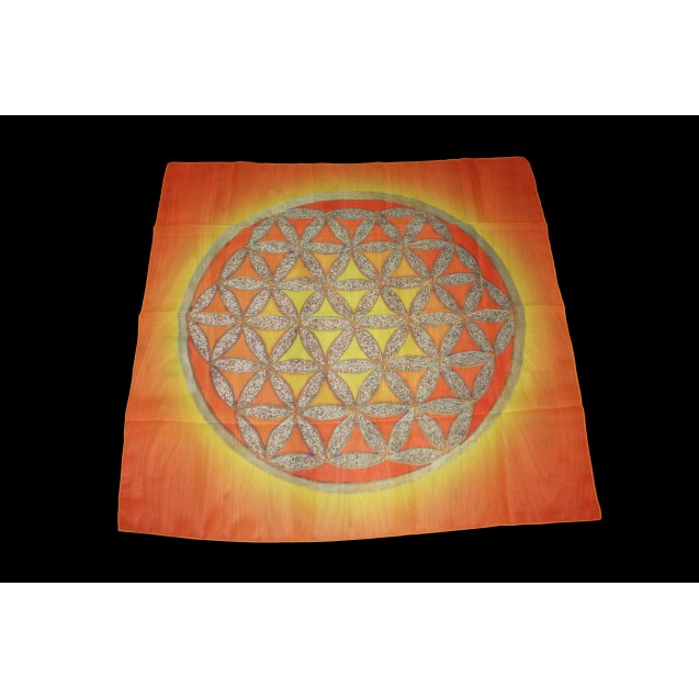 Élet Virága - Narancs 70x70 cm-es muszlin kendő