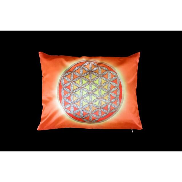 Élet Virága - Narancs párnahuzat