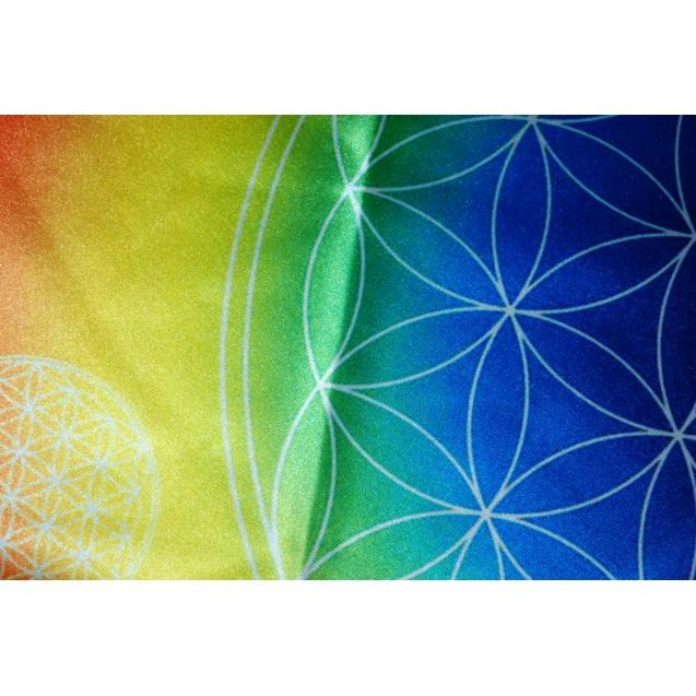 Élet Virága - Szivárvány kör alakú terítő