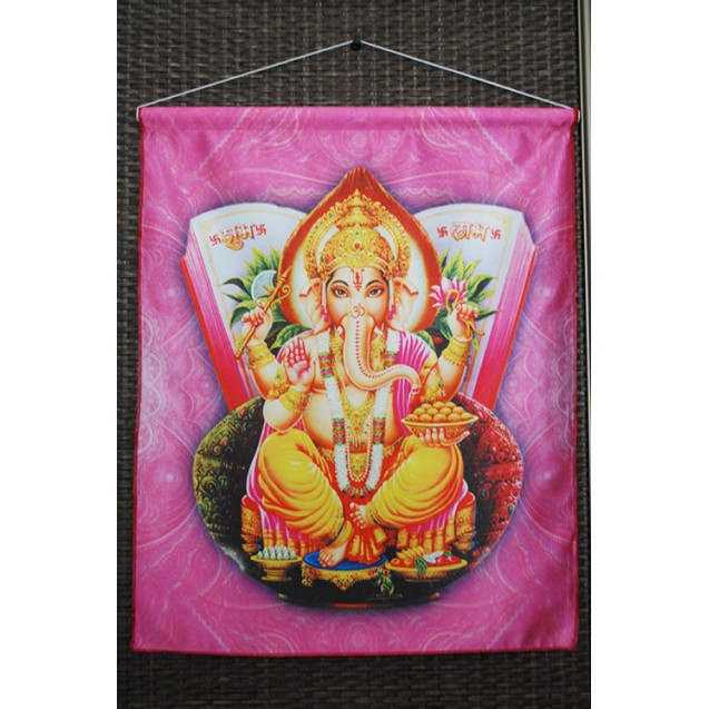 Ganesha - Rózsa akasztós kép
