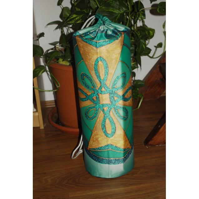 Gyógyító Kereszt - Zöld 20 cm átmérőjű, 65 cm hosszú beverly jógamatrac tartó