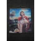 Jézus - Bárány kicsi akasztós kép