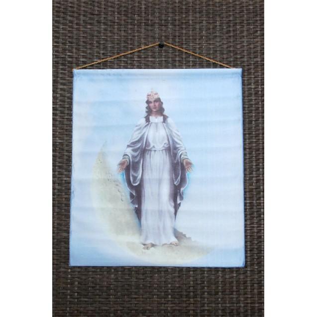 Szűz Mária - Világok Királynője - Hold kicsi akasztós kép