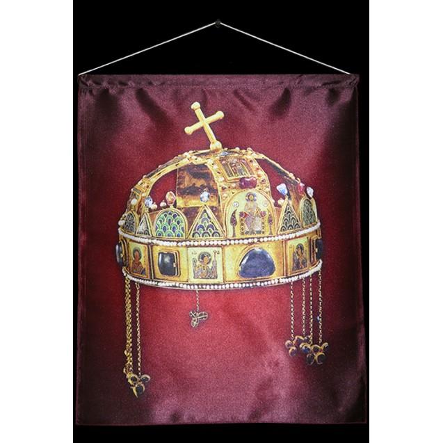 Szent Korona 40x50 cm-es szatén akasztós kép