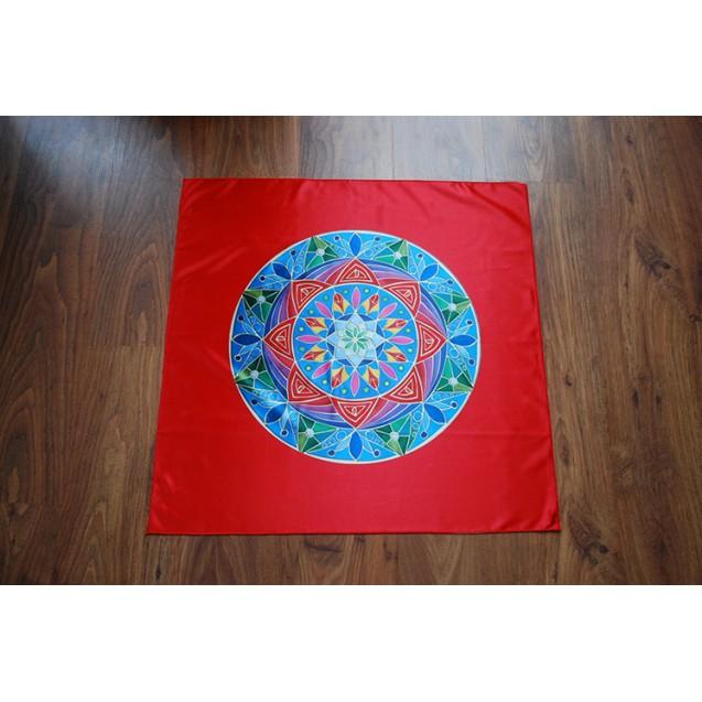 Teljesség Mandala - Piros terítő