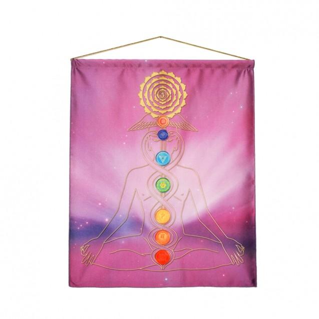 Lila Meditáció akasztós kép