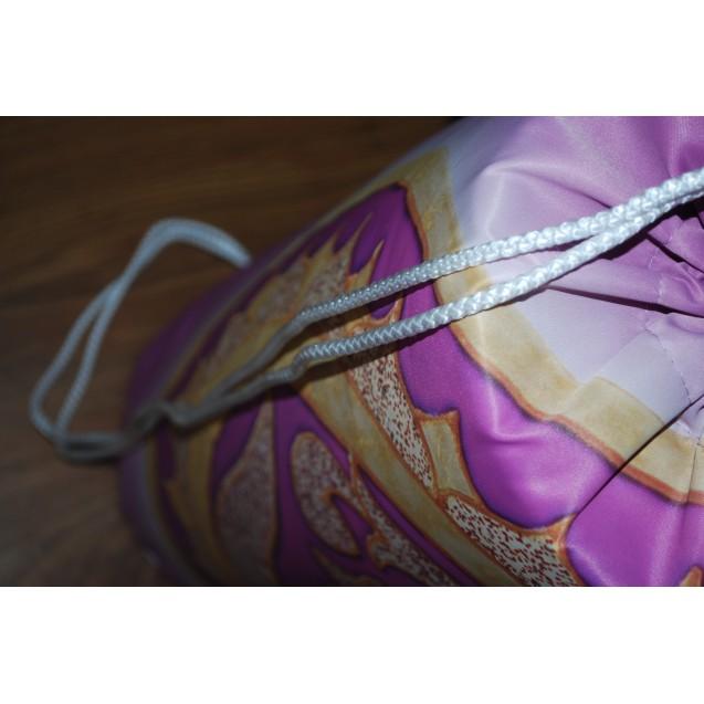 Ohm - Lila jógamatrac 20 cm átmérőjű, 65 cm hosszú beverly tartó
