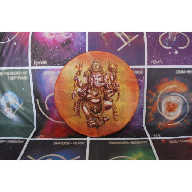 Ganesha - Barna ülőpárna