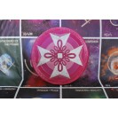 Gyógyító Kereszt - Rózsa 35 cm átmérőjű, 2 cm vastag bársonyos posztó ülőpárna