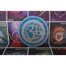 Ohm - Kék 35 cm átmérőjű, 2 cm vastag bársonyos posztó ülőpárna