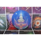 Wat-Rong Buddha 35 cm átmérőjű, 2 cm vastag bársonyos posztó ülőpárna